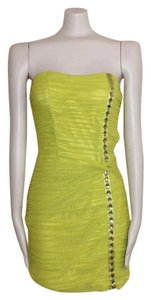 bebe Bustier Rushed Bright Dress