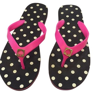 Kate Spade Black pink and white Sandals