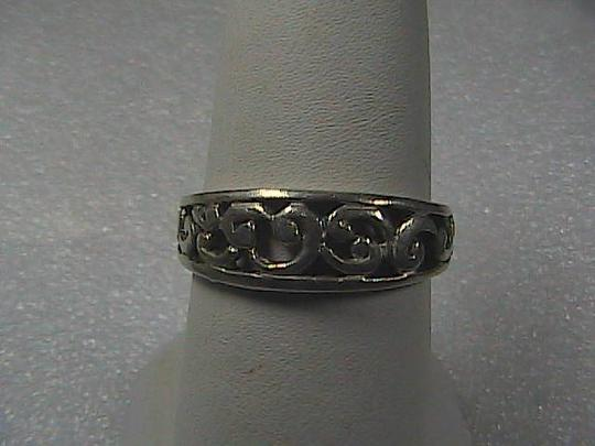 Vintage Sterling Silver Swirl Band Ring 2.0 grams (01)