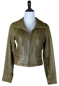 Kenneth Cole Leather Vintage Motorcycle Jacket