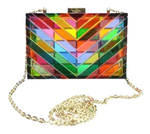Valentino Glass Crossbody Box Chain-link Satchel in colorful