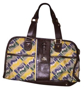 L.A.M.B. Gwen Steffani Love Angel Satchel in Yellow, Green, Brown, White