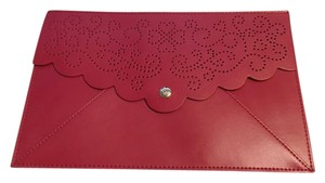 Kate Spade Laser Cut Heart Red Clutch