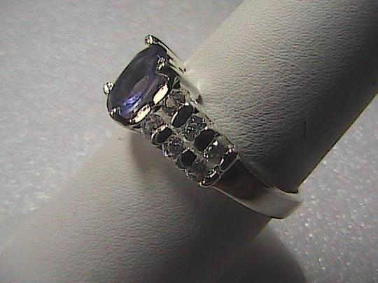 Unknown Sterling 0.51 carats CZ Purple Lolite Ring 3.0 grams