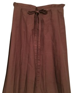 BCBGMAXAZRIA Pleated Bcbg Skirt Brown