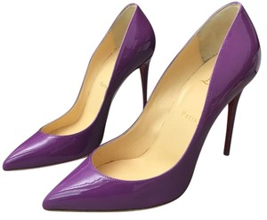 Christian Louboutin Stiletto Leather Patent Leather Pigalle Follies Purple Pumps