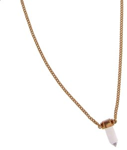 Rachel Zoe Rachel Zoe gold small hex crystal necklace