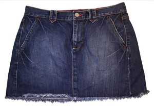 Victoria's Secret Denim Mini Mini Skirt Blue