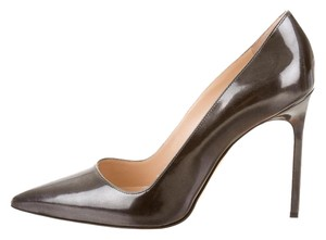 Manolo Blahnik Pointed Toe Stiletto Bb Silver, Grey Pumps