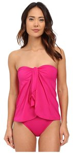 Ralph Lauren LAUREN by Ralph Lauren Beach Club Flyaway Strapless One Piece w/Molded Cup Pink Size 8