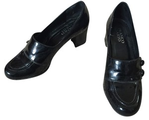 Franco Sarto Patent Leather Dress Business Casual Black Pumps