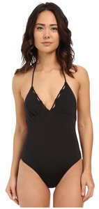 Shoshanna Shoshanna Black Solid Scallop One Piece Black Size 6