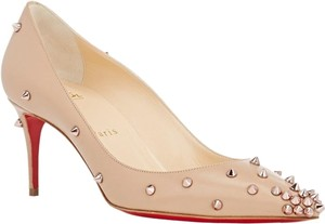 Christian Louboutin Degraspike Degraspike Size 39.5 Nude Beige Rose Gold Pumps