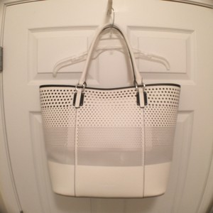 Splendid New/nwt Travel/weekend Beach Leather Tote in White