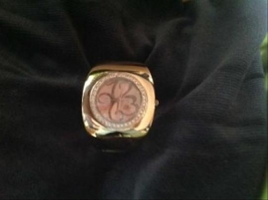 Curations Curations crystal rose gold cuff watch