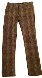 Rock & Republic Straight Pants Gold and brown