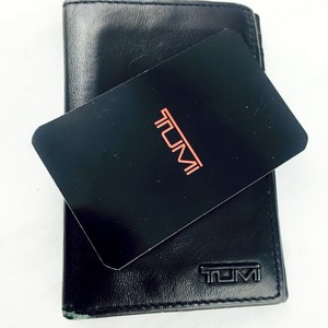 Tumi Tumi Mens Black Leather Bi Fold Wallet