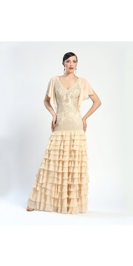 Sue Wong W4331 Vintage Art Deco Wedding Dress