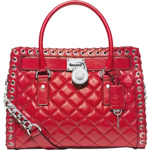 Michael Kors Satchel in red/silver