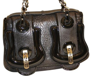 Fendi Classic Leather Medium Satchel in Black
