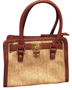 Charming Charlie Satchel in Tan
