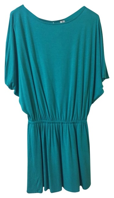 Preload https://item5.tradesy.com/images/michael-stars-turquoise-short-casual-dress-size-2-xs-1656449-0-0.jpg?width=400&height=650