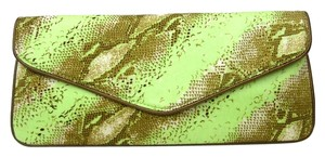 Echo Design Snake Print Silk Apple green Clutch