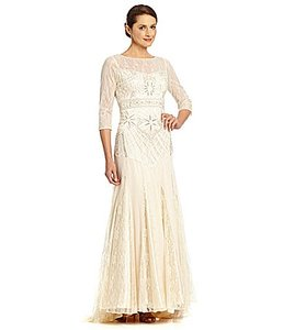 Sue Wong W4332 Vintage Art Deco 3/4 Sleeve Wedding Dress
