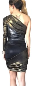 bebe short dress Silver gold black dress on Tradesy