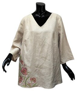 Embroidered Floral A-line Tunic
