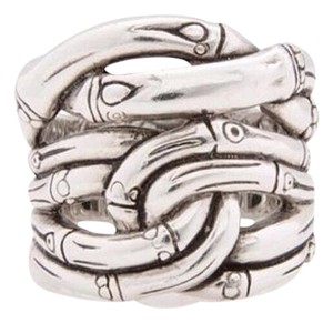 John Hardy size 7.25 - 7.75, sterling Silver, 7 Bamboos, fashion, Unisex ring