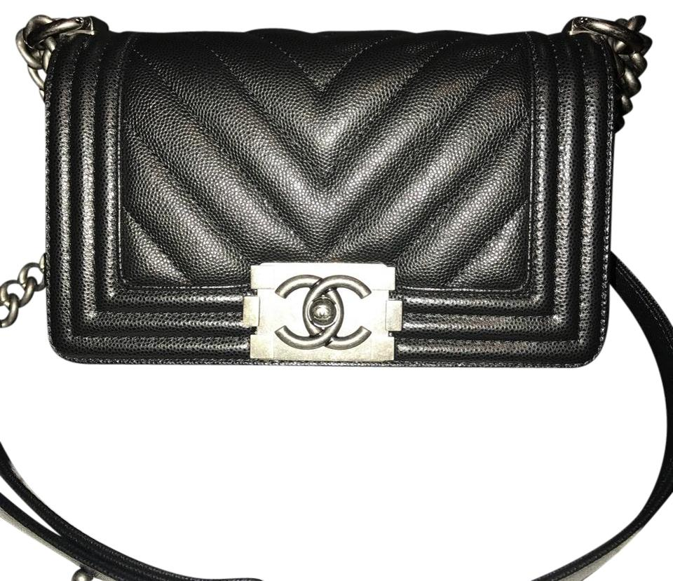 fb029d5d2b79 Chanel Boy Black Leather Cross Body Bag - Tradesy