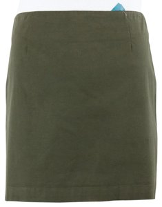 Gap Olive Blend Mini B137 Mini Skirt