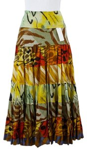 Alberto Makali Multi Patterned Tiered Maxi Skirt