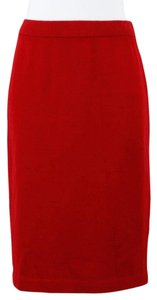 St. John St Red Knit Elastic Skirt
