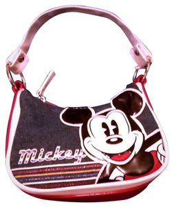 Disney Denim Jean Mouse Minnie Mouse Estate Baguette