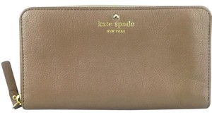 Kate Spade Kate Spade Beige Tan Leather Continental Zip Around Wallet New