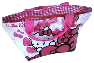 Hello Kitty Hk Tote Sack Checkered Plaid Baguette