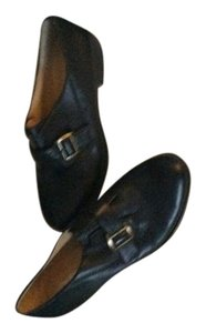 Naturalizer Side Buckle N-5 Comfort Genuine Leather Black Flats