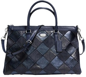 Coach Satchel in Blue Multicolor