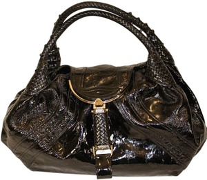Fendi Classic Patent Leather Shoulder Bag