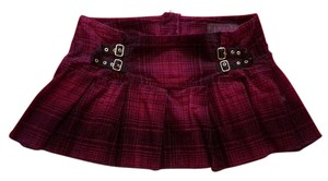 Tripp Nyc Mini Plaid Skirt Deep Purple