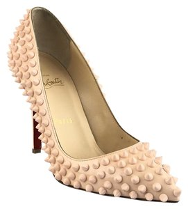 Christian Louboutin Pigalle Spiked Poudre Platforms