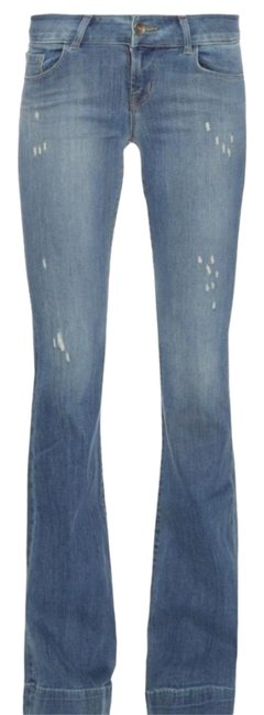 Item - Mesmerize Distressed Love Story Bell Bottom Flare Leg Jeans Size 30 (6, M)