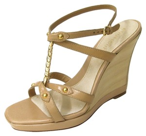 Boutique 9 Covered Wedge Leather Natural Wedges