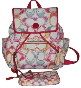 Coach Scribble Scribble Backpack
