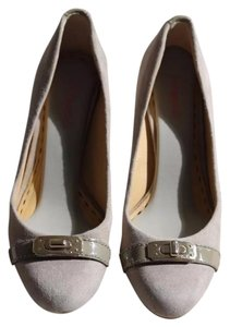 Coach Grey Suede Pumps