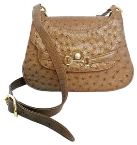 SACHA OF NEW YORK Ostrich Cross-body Shoulder Bag