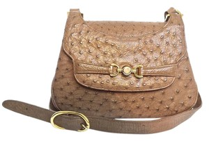 SASHA OF NEW YORK Ostrich Cross-body Shoulder Bag