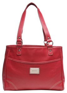 Nine West Slouchy Magnetic Button Tote in Red